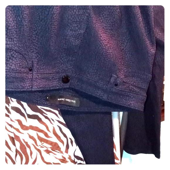 Calvin Klein Denim - Calvin Klein black snakeprint skinny pants